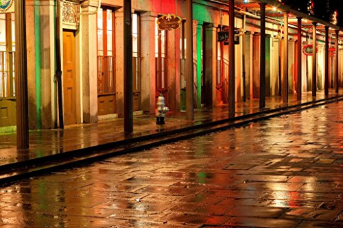 - French Quarter Reflections New Orleans Louisiana Photo Art Print Poster 36x24 inch