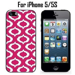 Ikat Fuchsia Custom Case/ Cover/Skin *NEW* Case for Apple iPhone 5/5S - Black - Plastic Case (Ships from CA) Custom Protective Case , Design Case-ATT Verizon T-mobile Sprint ,Friendly Packaging - Slim Case
