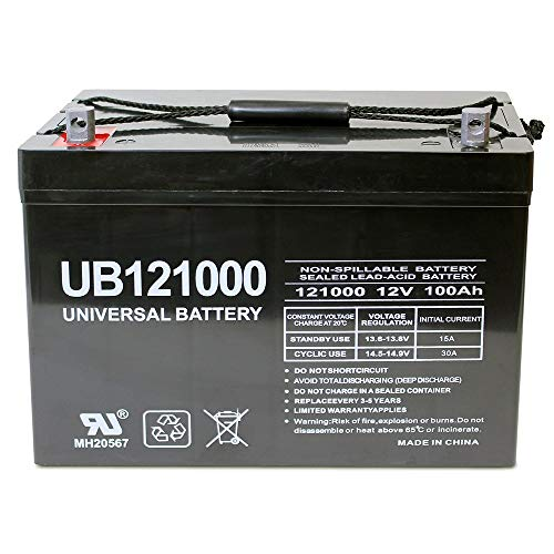 Universal Power Group 12V 100Ah Solar Wind AGM SLA DEEP Cycle VRLA Battery 12V 24V 48V ()