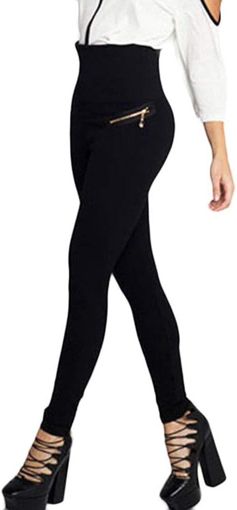 Geilisungren Pantalones de Yoga para Mujer,Talla Grande Moda Femenina Leggings Fitness Deportes Gimnasio Running Athletic Pants El/ásticos y Transpirables Cintura Alta Ropa de Yoga Pitillo Negro