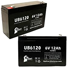 2x Pack - TRIPP LITE OMNIPRO 1400 Battery - Replacement UB6120 Universal Sealed Lead Acid Battery (6V, 12Ah, 12000mAh, F1 Terminal, AGM, SLA) - Includes 4 F1 to F2 Terminal Adapters
