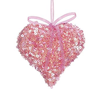 amazon com valentines day heart ornaments pink health personal