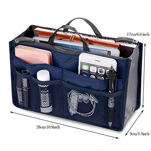 rangement main Bleu sac foncé mode foncé maquillage Bleu voyage loisir Articles Rokoo Femmes à organisation sac wPXO7gzq4