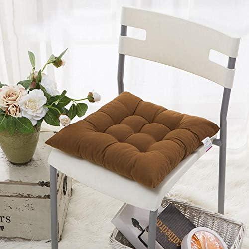 Doitsa. 6pcs Coussins d\'Assise en Fibre de Polyester Doux Tatami Coussin de Chaise pour Jardin Balcon Bureau, Coussins de Siège 40x40cm (Bleu Marine)