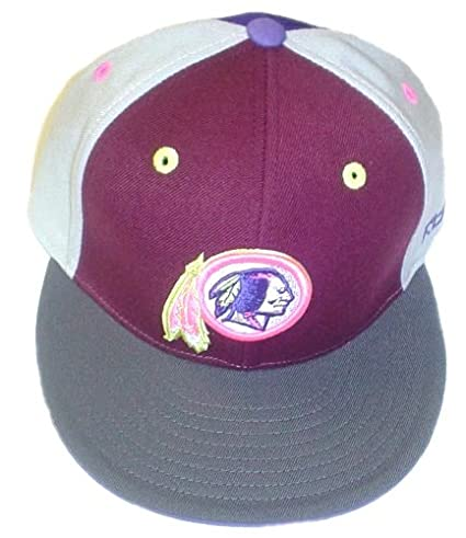 a882b0d8a Image Unavailable. Image not available for. Color  Washington Redskins  Kolors Fitted Flat Bill Reebok Hat ...