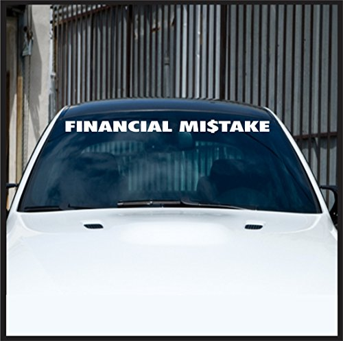 Financial-Mistake-windshield-banner-sticker-for-jeep-4x4-decal-offroad-funny-drift-racing-decal