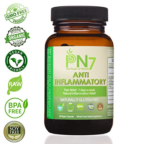 PN7 1200mg Organic Supplement. Boswellia Serrata, Turmeric, Peppermint, Ginger. 60 Vegan Capsules