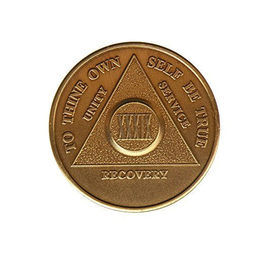 39 Year Bronze AA (Alcoholics Anonymous) - Sober / Sobriety / Birthday / Anniversary / Recovery / Medallion / Coin / Chip