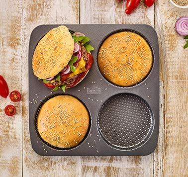 Birkmann Burger Br/ötchen Buns Seele Backform 210387 Laib