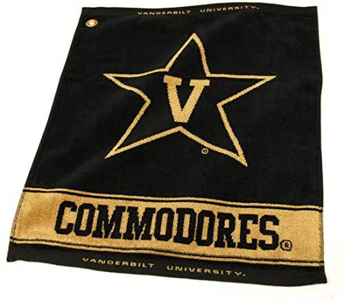 Team Golf NCAA Vanderbilt Commodores Jacquard Woven Golf Towel, 16