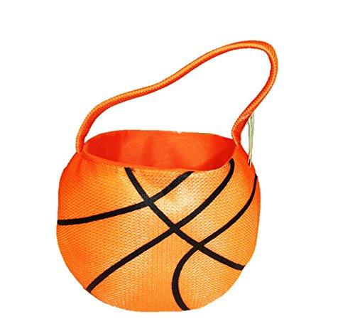 (Plush Sports Halloween Candy Basket 8.5