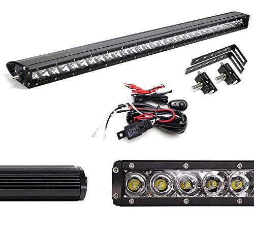 - iJDMTOY Behind Grille 30W 150W LED Light Bar Kit For 14-18 GMC Sierra 1500 2500 3500 HD, Includes (1) High Power CREE LED Lightbar, Behind Grille Mount Brackets & Relay Wire Switch Kit