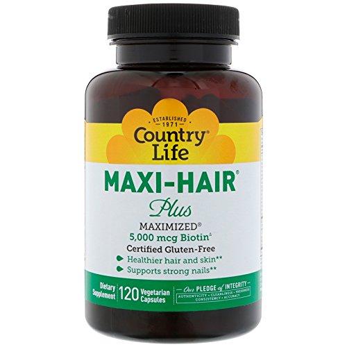 Country Life, Maxi Hair Plus, 120 Vegetarian Capsules