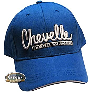 c3abf17a6f420d Gregs Automotive Chevy Chevelle Bowtie Hat Cap Blue - Bundle with Driving  Style Decal