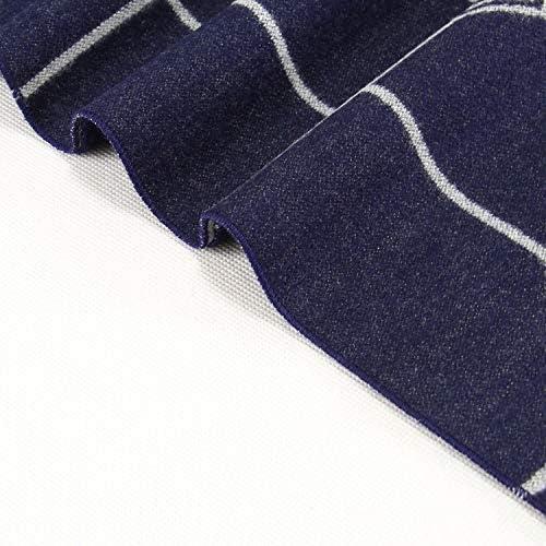 Zhukeke Mens Autumn Winter Warm Scarf Striped Grid Neckerchief Tartan Scarves Paisley Bandannas Bandelet 18030cm for Men Long Shawls Wear-Resistant Fashion Color : 1, Size : 18030CM