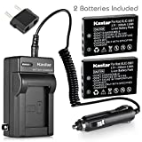Kastar New Charger + 2 Battery for Kodak KLIC-5001 and Easyshare P712 P850 P880 Z730 Z760 Z7590 DX6490 DX7440 DX7590 DX7630 Sanyo DB-L50 DMX-WH1 HD1010 FH11 HD2000 VPC-WH1 HD2000 HD1010 HD1000