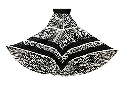 Indian Handicrfats Export Cotton Breeze Women's Cotton Skirt (Black)