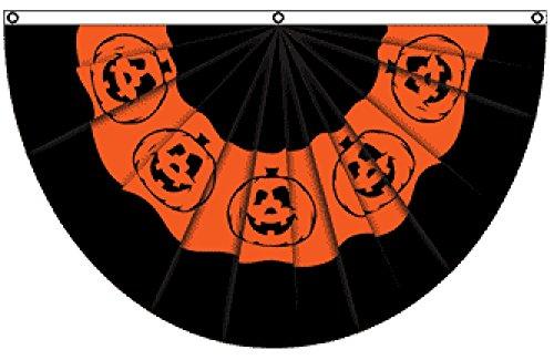 Orange Halloween Header (Halloween (Pumpkin) Bunting Flag 5x3ft)