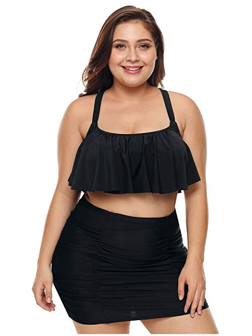 ADM Bañadores de Talla Grande para Mujer Bikini Sexy de Falda de ...
