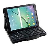 Samsung Galaxy Tab S2 9.7 Keyboard Case, Pasonomi® Premium PU Leather Folio Case Cover & Detachable Wireless Bluetooth Keyboard Cover Case for Samsung Galaxy Tab S2 SM-T810 9.7 Tablet (Black)