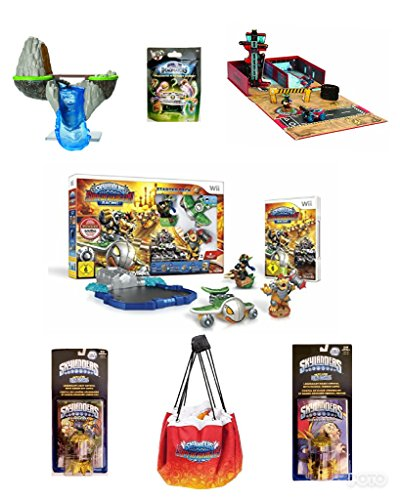 NEW! SKYLANDER ULTIMATE (7pc) BUNDLE DEAL: SUPER CHARGER RACING STARTER PACK, GARAGE STORAGE CASE, WATERFALL SKYLAND, QUICK STORE PLAY MAT, 2 FUN PACKS, & A MYSTERY CHEST (Nintendo Wii) by best bargins