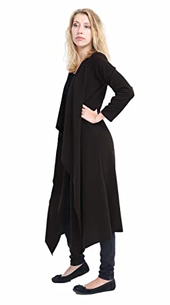 0a5892f12a2 Ladies Waterfall Crepe Cardigan Open Front Duster Coat Blazer Jacket Plus  Size (8