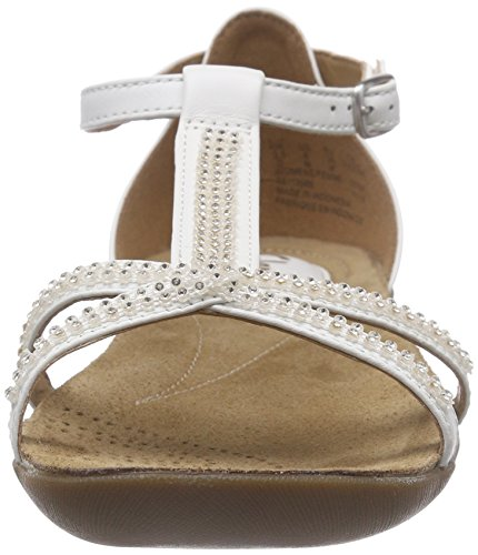 White Salomés Star Femme Leather Blanc Raffi Clarks REw7XX