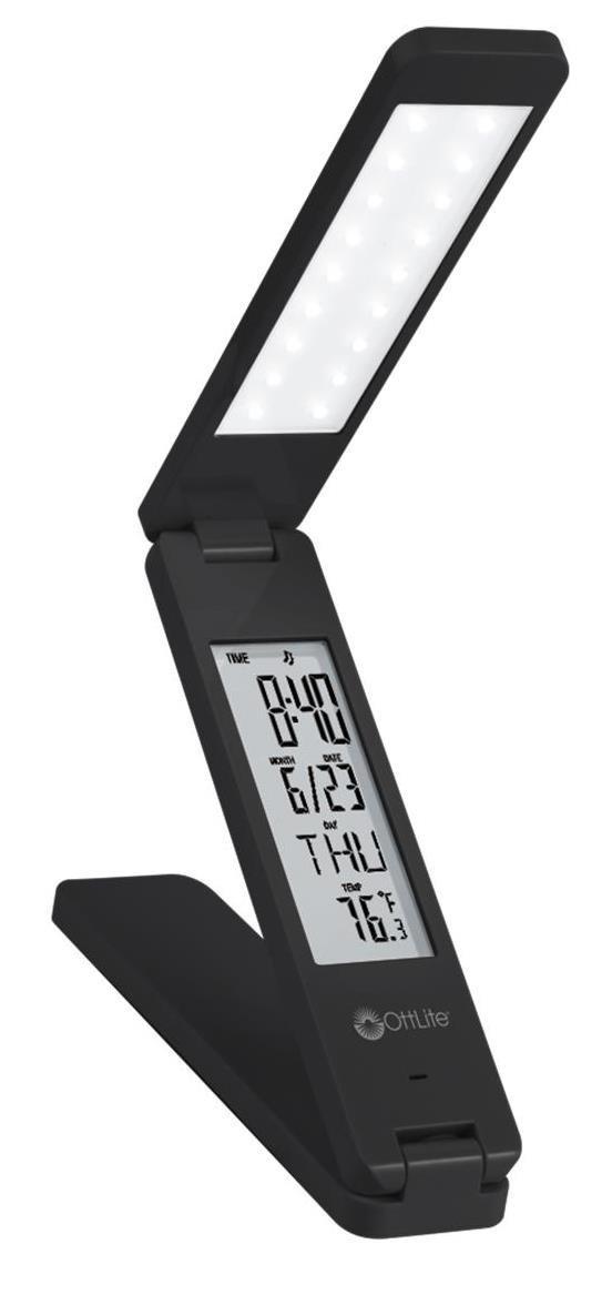 OttLite 4850NC Rechargeable LED Travel Light, 1.3'' x 7.25'' x 14.25'', Black