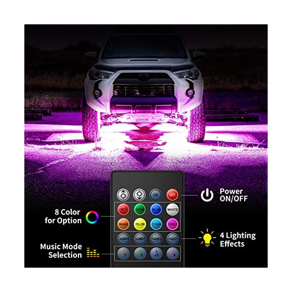 Govee-Car-Underglow-LED-Lights-Exterior-Car-Lights-with-8-Colors-Sync-to-Music-4-PCS-Neon-Accent-Car-Light-Strips-with-Remote-Control-5050-RGB-Under-LED-lights-for-Car-with-Cable-Tie-Screw-DC-12V