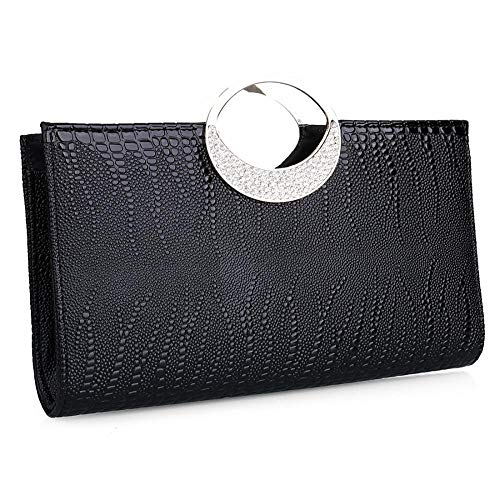 Metal Clutch Black Birthday Grip Women Evening Wedding Black for Wallets Bag Ladies Girls Purse with Prom Party Ball for Bag Modern Clutch for Gift Clutch Women Ttq4v