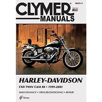 amazon com clymer harley davidson fxd twin cam 88 1999 2005 rh amazon com 2004 Sportster 2005 Sportster 1200