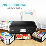 Edible Printer System - Icinginks Profesional Package - Comes with Edible Cartridges, Icing Sheets, Cleaning Cartridges, Refill Inks- Canon Edible Printer for cakes