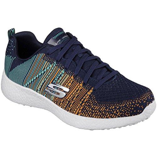 Skechers Burst Zapatillas para hombre tela azul multicolor nvy/orng