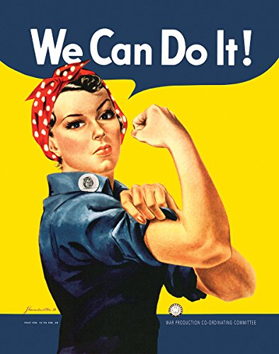 We Can Do It! (Rosie the Riveter) - Art Print / Poster 11x14 inches