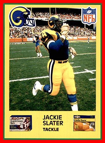 1987 Los Angeles Rams Jello Birdseye General Foods #9 Jackie Slater JELL-O Birds Eye JACKSON STATE ()