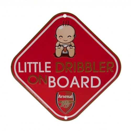 Arsenal Fc Official Football Gift Metal Car Window Sign (rrp 5.99!) ()