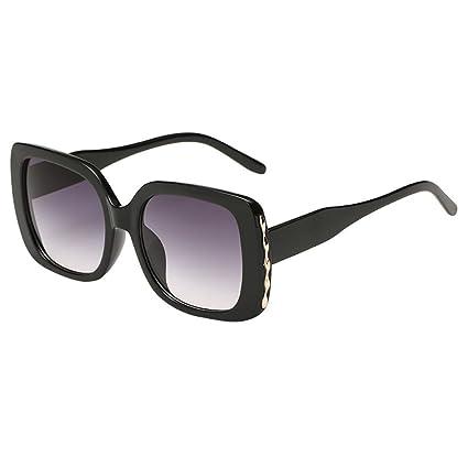 Sannysis Unisexo Retro Vendimia Marco Grande Gafas de Sol de Forma Cuadrada  Gafas Polarizado Gafas De 3781bd3992a4