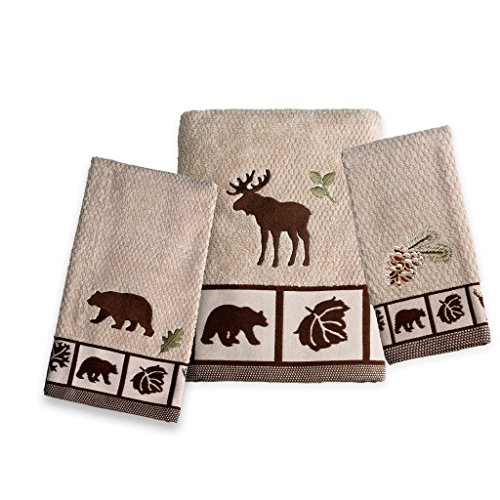 Saturday Knight Natures Trail Towel Set (Bath, Hand, Fingertip) (Bed Pine Ensemble)