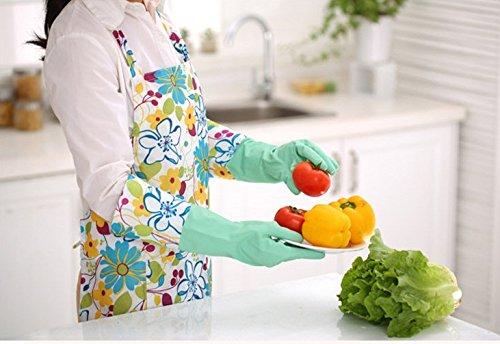 Kelaina 1 Paar Praktische Gummihandschuhe Anti-Rutsch-Haushalts-Waschhandschuhe (grün)
