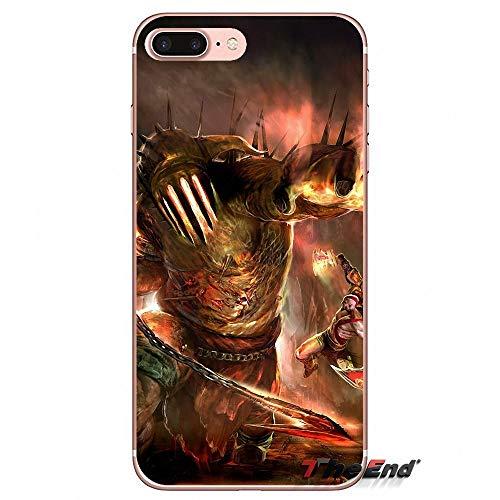 (1 piece Accessories Bag Case For iPhone X 4 4S 5 5S 5C SE 6 6S 7 8 Plus Samsung Galaxy J1 J3 J5 J7 A3 A5 2016 2017 God of War Kratos III)