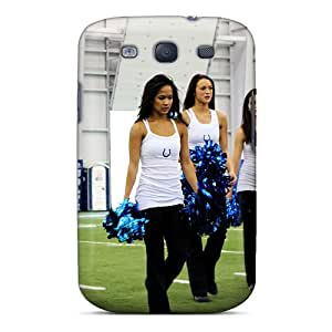 Quality DLBuke Case Cover With Indianapolis Colts Cheerleaders Tryout Nfl Nice Appearance Compatible With Galaxy S3