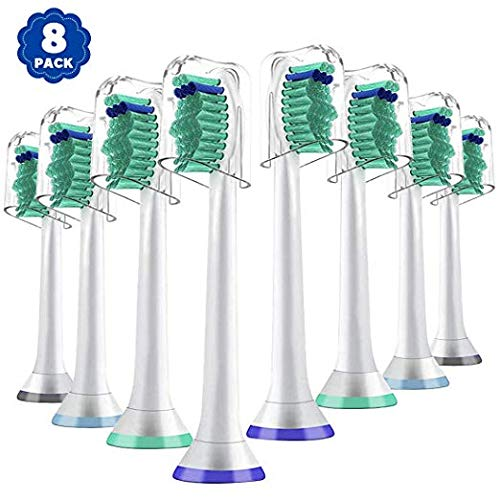 Replacement Toothbrush Heads for Philips Sonicare e-Series HX-Series, Compatible With Sonicare Advance, Elite, Essence, Xtreme and More Snap-On Brush Handle for Sonicare Electric Toothbrush, 8 Pack