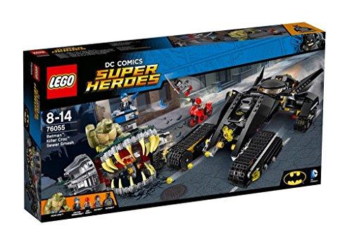 LEGO DC Super Heroes – Golpe en Las Alcantarillas de Killer Croc, Juguete de Construcción para Recrear las Aventuras de Batman (76055)