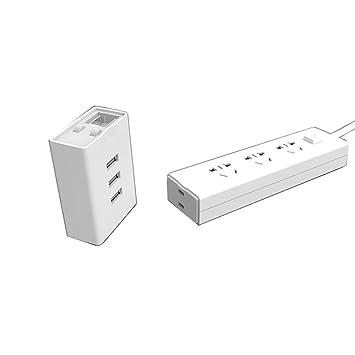 Regleta de viaje, SNEER limitador de tensión con cargador USB 3 ...