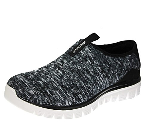 Skechers Damen Empire-Inside Look Sneakers, Weiß/Schwarz Black/White Knit