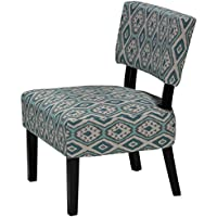 Cortesi Home Largo Diamond Ikat Armless Accent Chair
