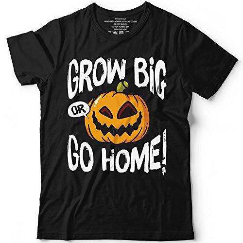 Grow Big Or Go Home Scary Giant Pumpkin Shirt Jack O'Lantern Face Costume Customized Handmade Hoodie/Sweater/Long Sleeve/Tank Top/Premium T-shirt -
