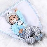 Galaxydoll Reborn Baby Doll Soft Silicone 22inch 55cm Magnetic Mouth Lovely Lifelike Cute Boy Girl Toy