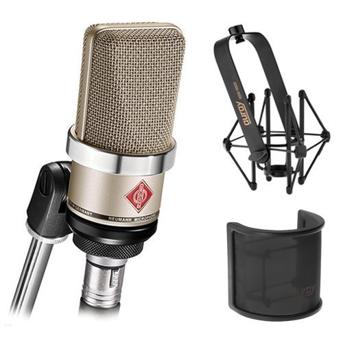 Neumann Shockmount TLM-102 Large Diaphragm B07MH9WLM4 Studio & Condenser Microphone (Nickel) with Suspension Shockmount & Pop Filter [並行輸入品] B07MH9WLM4, 実用衣料のアカキタ:0b44494c --- kapapa.site