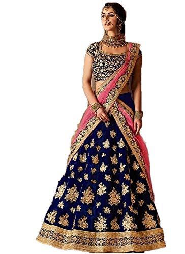 REKHA Ethinc Shop Bridal Embroidery Work Indian Bollywood Designer Lehenga Choli A330